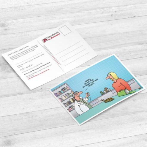 Uli Stein Postkarten für Tierärzte - Ruhmservice Consulting