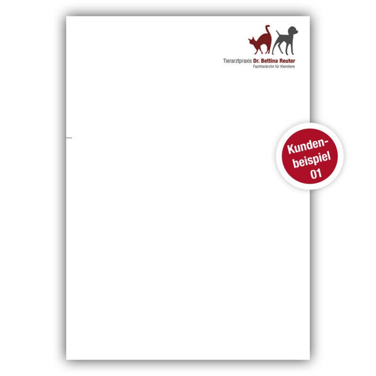 Briefpapier für Tierärzte - Beispiel 1 - Ruhmservice Consulting