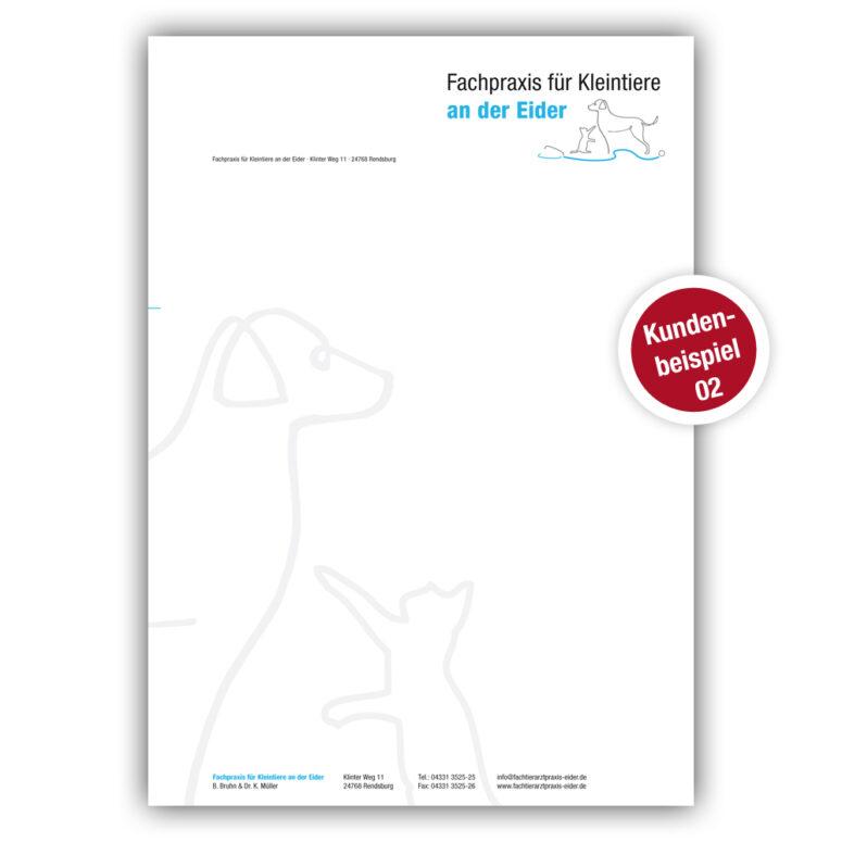 Briefpapier für Tierärzte - Beispiel 2 - Ruhmservice Consulting