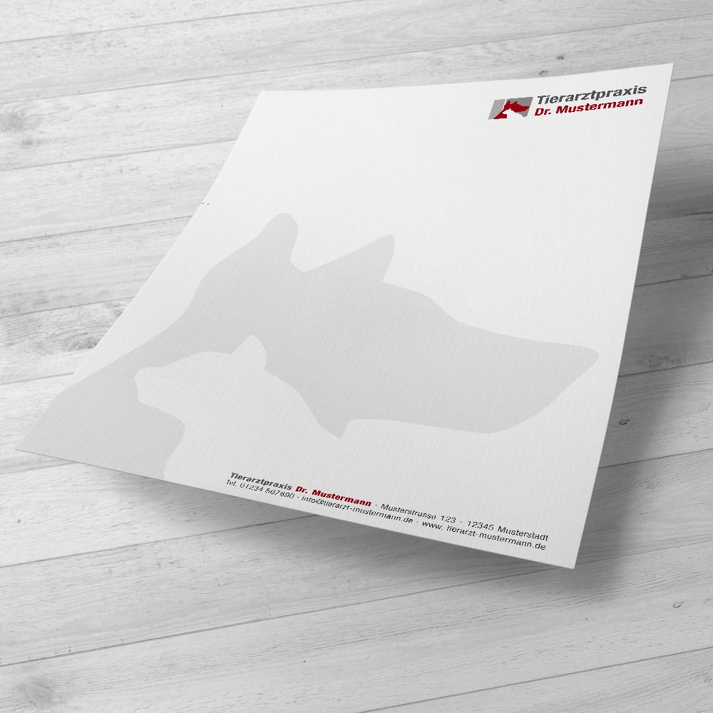 Briefpapier - individuell gestaltet für die Tierarztpraxis - ruhmservice.de