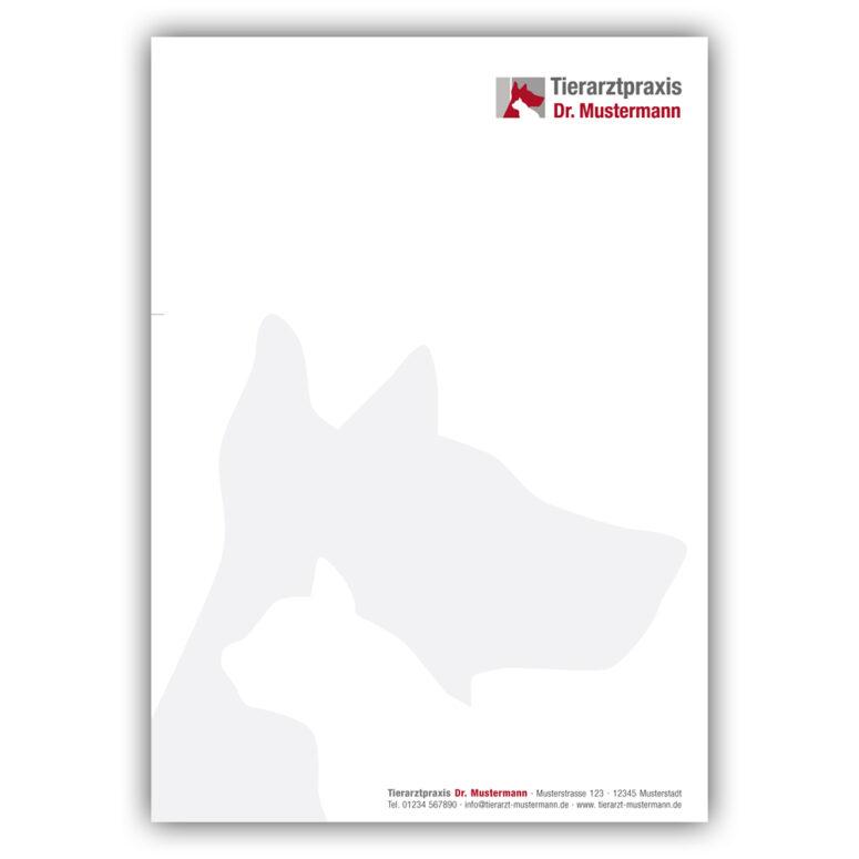 Briefpapier Tierarztpraxis - Muster - Ruhmservice