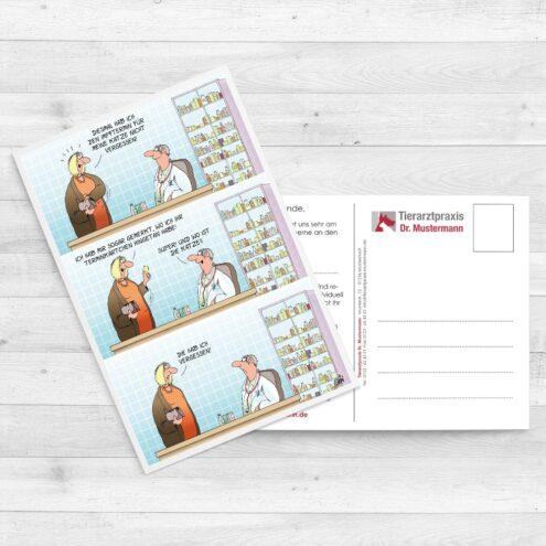 Uli Stein Postkarten für Tierärzte - www.ruhmservice.de