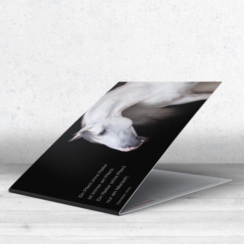 Trauerkarte Pferd - Motiv 14 im Ruhmservice Shop für Tierärzte