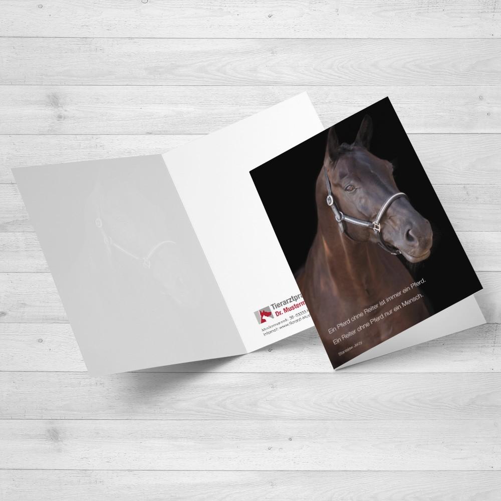 Trauerkarte Pferd - Motiv 16 im Ruhmservice Shop