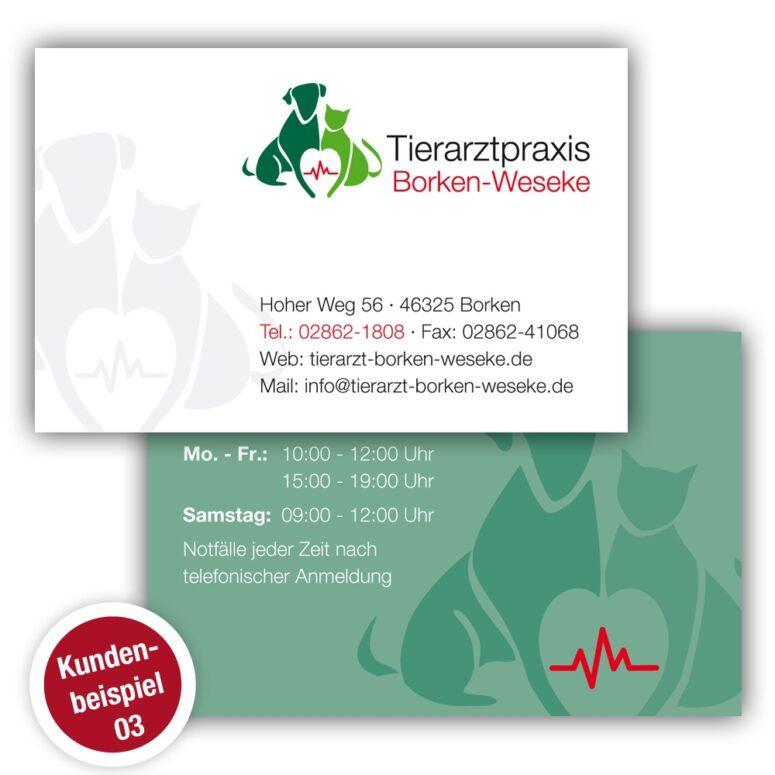 Visitenkarte Tierarztpraxis - Beispiel 3 - ruhmreiche.de