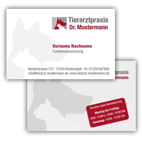 Visitenkarten für Tierärzte - Ruhmservice Consulting