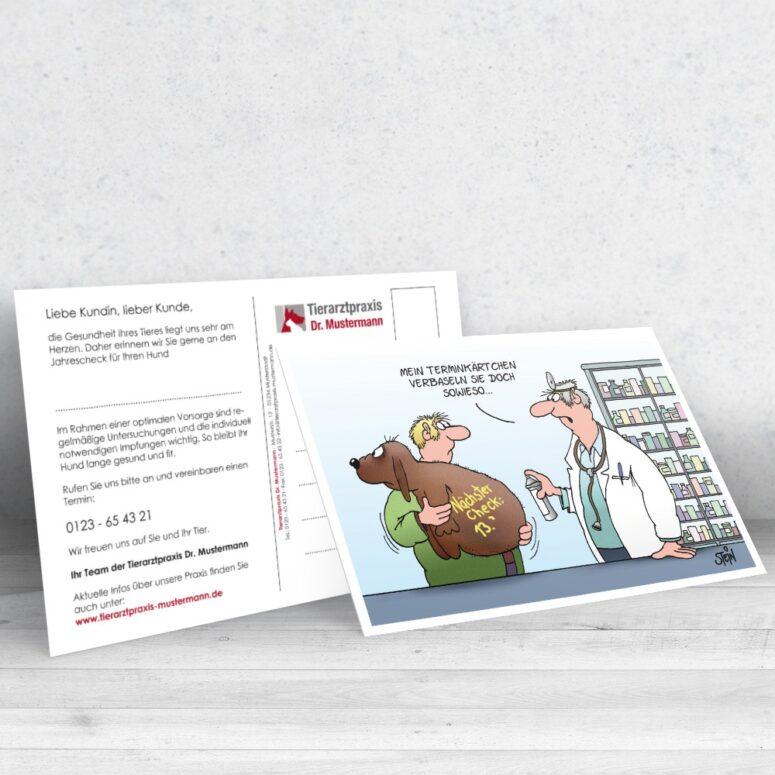 Uli tein Postkarte Tierarztpraxis