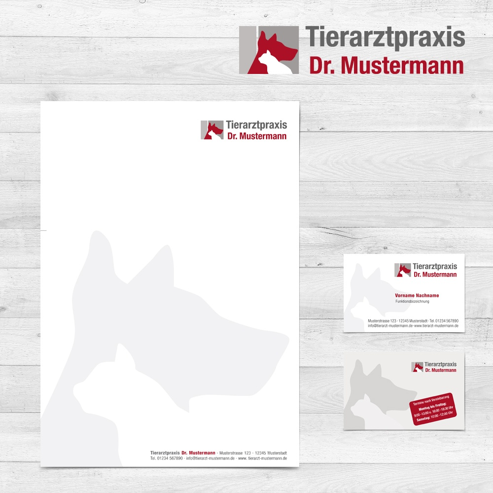Logo-Design-Paket - Erstellung mit Briefpapier und Visitenkarten Tierarztpraxis - ruhmservile.de