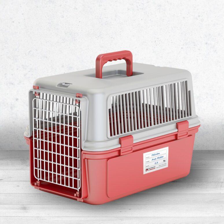 Aufkleber für Katzenboxen Tierarzt
