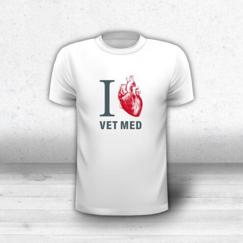 T-Shirt Tierarzt I love Vet Med