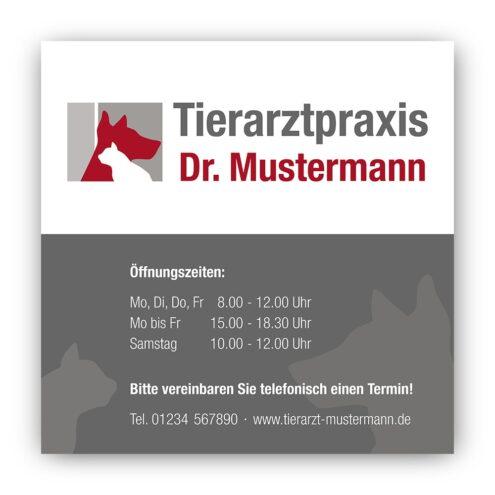 Schild Tierarztpraxis Ruhmservice.de