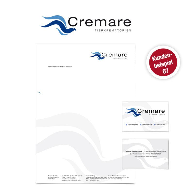 Logo Gestaltung Cremare Ruhmservice