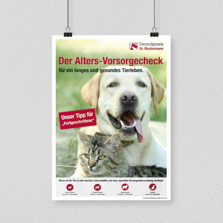 Poster Altersvorsorge Tierarztpraxis