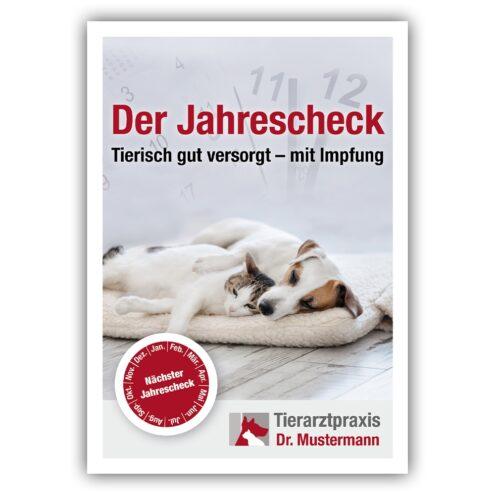 Jahrescheck Erinnerungskarte Tierarzt
