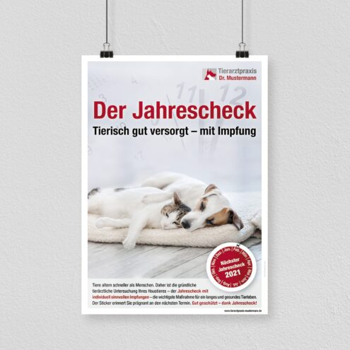 Poster Tierarzt Logo Jahrescheck Ruhmservice
