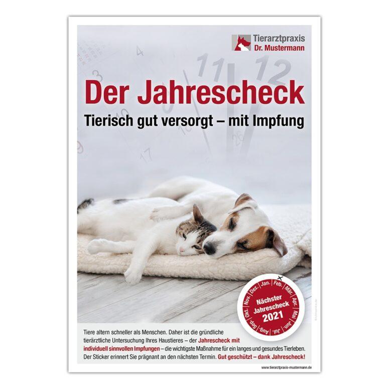 Poster Jahrescheck Impfung Tierarzt