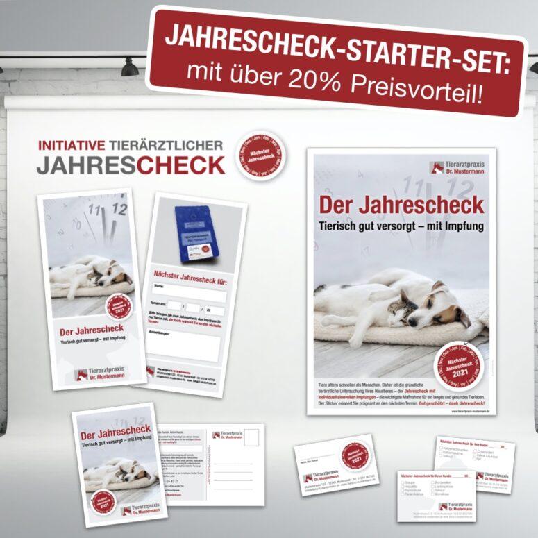 Jahrescheck Starter Set tierarzt