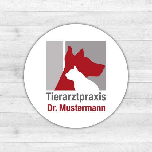 Aufkleber Tierarztpraxis