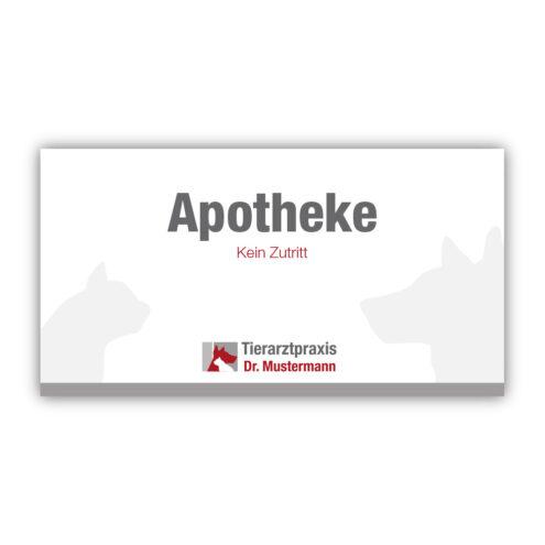 tuerschild apotheke tierarzt