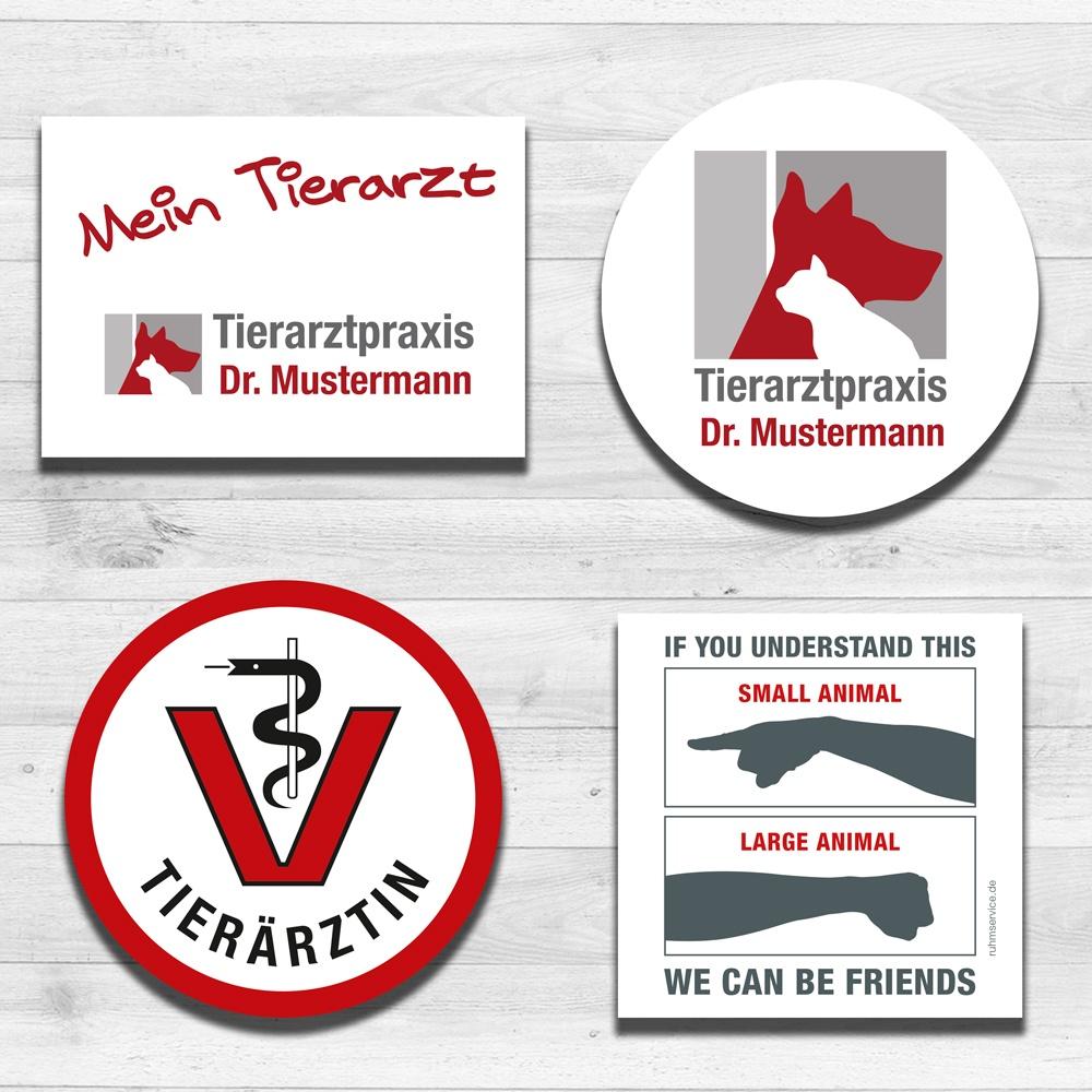 Tierarzt Autoaufkleber und Aufkleber Tierarztpraxis