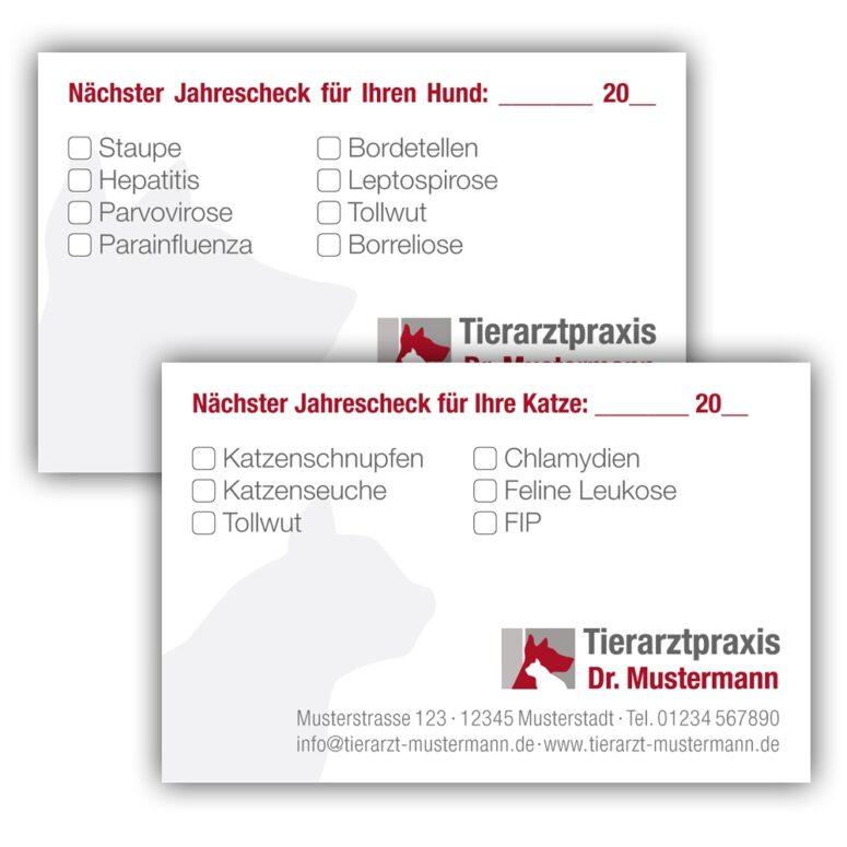 Impüfpasskarten mit Logo und Impfkomponenten