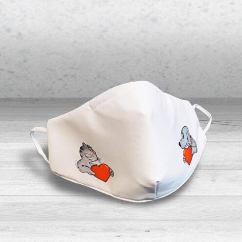 Foto einer Corona Maske für Tierarztpraxen Uli Stein