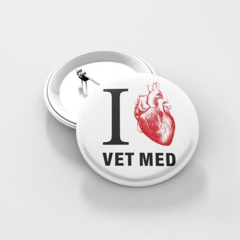 Ansteckbutton ich liebe tiermedizin